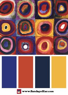 Color Palette: Farbstudie Quadrate, c.1913, Art Print by Wassily Kandinsky