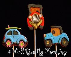 Car Cookies by well kiss my frosting, via Flickr