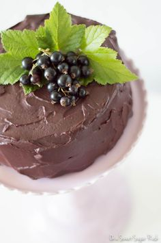 This chocolate fudge cake with blackcurrant ganache frosting is truly a chocolate lover's dream!