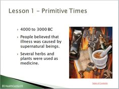 #HealthScience : Free Allied Health lesson on The History of Health Care. PowerPoint presentation included.