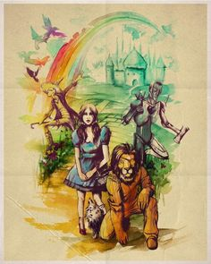Wizard of Oz Watercolored