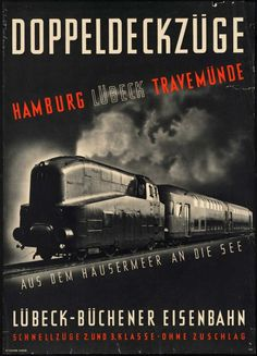 Vintage Hamburg, #Germany Travel Poster