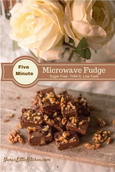 Sugar Free Five Minute Microwave Fudge - A fast, fun treat for the Holidays that they'll think you spent hours preparing.