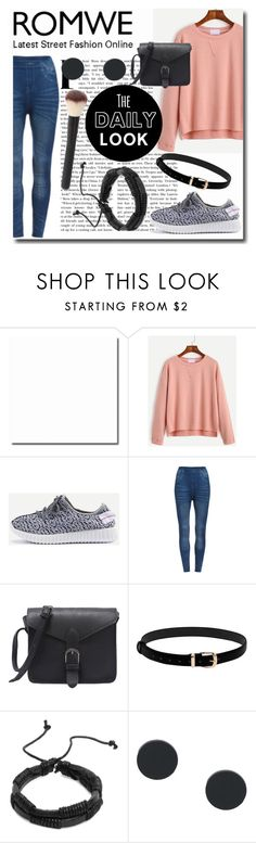 """""""Romwe Pink Top"""" by emmy-124fashions ❤ liked on Polyvore featuring romwe"""