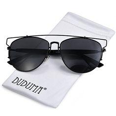 Nuova offerta in #abbigliamento : Duduma Polarizzati Occhiali da Sole Aviator Modo con il Piano Lente della Struttura del Metallo per le Donne e Gli Uomini 8027 (Telaio nero con lente nera) a soli 16.99 EUR. Affrettati! hai tempo solo fino a 2016-09-14 21:55:00