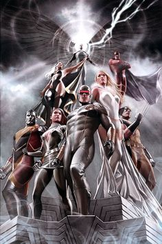 Archangel, Storm, Magneto, Colossus, Rogue, Cyclops, Emma Frost, Wolverine