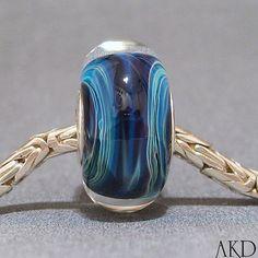 Handmade Lampwork Glass Bead SRA European Charm by AKDlampwork, $24.00