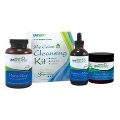 Uni Key Health Systems My Colon Cleansing Kit Complete Cleansing Formulas That Help Eliminate Yeast Candida Parasites Worms And Wastes From Your
