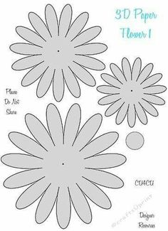 Here is a cute series of Paper Flower Templates. These can be used for Be creative with these, make different patterns, use them flat or roll them to make Thanks for looking. There are 4 of these in the series. Rolled Paper Flowers, Paper Flower Arrangements, Paper Flowers Craft, Giant Paper Flowers, Fabric Flowers, Flower Paper, Paper Butterflies, Leaf Template, Flower Template