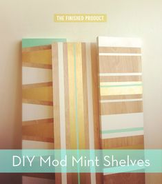 DIY painted shelves! #DIY
