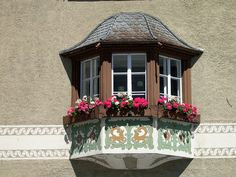 Flowery windows. Blumen Fenstern.