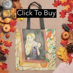 A great design or a gift idea for anyone who loves the fall, the rain and cosy sweaters and walking among autumn leaves. Based on the original watercolor painting by Fairychamber.A spacious and trendy tote bag to help you carry around everything that matters. Large Bags, Small Bags, Medium Bags, Cotton Tote Bags, Autumn Leaves, Are You The One, Watercolor Paintings, Lanterns, Fall