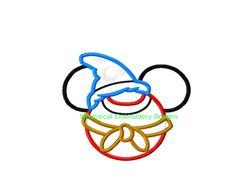 Mickey Mouse Wizzard Fantasia Machine Embroidery Applique Design INSTANT DOWNLOAD