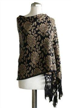 Alpaca blend reversible shawl, 'Cinnamon Blossom' NOVICA. $114.95