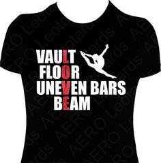Girls Gymnastics Shirt T-shirt Vault Floor uneven bars beam LOVE shirt gymnast gift Tshirt Glitter