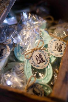 EMILEE!!!  horse shoe favor-maybe something like soap or chocolate?.... Chocolate favor!!! love this idea!!