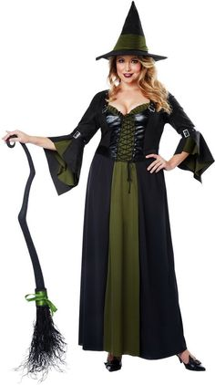 salem witch sorceress enchantress halloween costume outfit adult women plus size - Salem Witch Halloween Costume