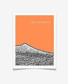 San Salvador Poster San Salvador Gifts El by BugsyAndSprite