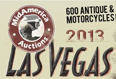 MidAmerica Auctions 2013 Las Vegas Motorcycle Auction and Races Poster Design, Typeography, Digital Marketing and Public Relations by Damon Merten and Stacey Spiegel Daedalus Creative Design, Los Angeles CA