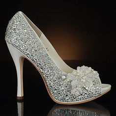 Doesn't every girl want to wear glass slippers on her wedding day?