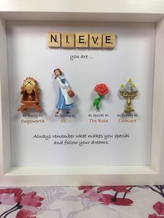 Disney Beauty and the Beast Frame- perfect mum, sister- daughter-friend- nana- flower girl gift. Beauty & the beast gift - mother's day gift - Beauty Beauty And The Beast Crafts, Disney Beauty And The Beast, Beauty And The Beast Bedroom, Homemade Gifts, Diy Gifts, Disney Diy Crafts, Diy Disney Gifts, Disney Presents, Disney Rooms