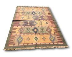 Vintage Kilim Turkish Rug | 6' x 9'  Colorful