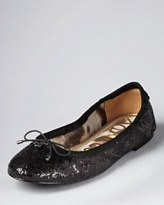 Sam Edelman Glitter Ballet Flats - Felicia