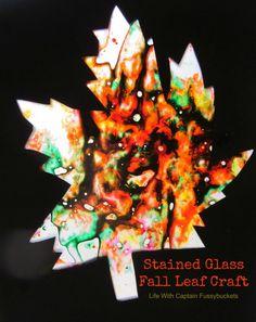 Fall Craft: Stainglass Window Art
