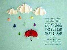 Du'a when rain falls.
