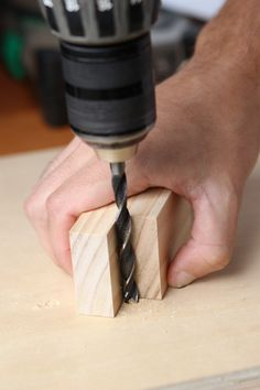 How to Drill a Perfectly Straight and Square Hole without a Drill Press | Man Made DIY | Crafts for Men | Keywords: how-to, diy, tips, hack