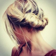 Bridesmaids hair ideas just add the baby's breath and you're gold.