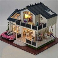Notes: The house need you to assemble it by yourself, the inside of the package is several bags of r