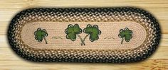 13in. x 36in. Shamrock Oval Patch Table Runner