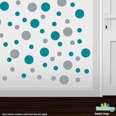 Mint Green Polka Dot Vinyl Decal Sticker Wall Art Nickos Graffix