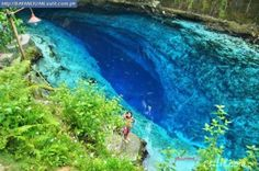 This is in the Philippines, its called the Enchanted River.... I will swim in this river one day. Swear.