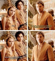 """Jaime's face in the last frame is just like... """"Well..."""""""