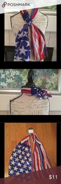 Stars and Stripes Scarf Show your patriotism this summer in this super cool stars and stripes scarf! Accessories
