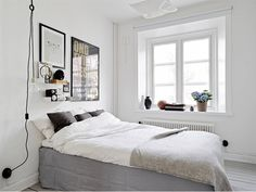 Bedroom without a headboard ideas