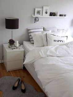 #bedroom love happy pillow