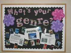 High School Bulletin Boards....could use genre survey and some examples from classroom library to present good reads for independent studies.