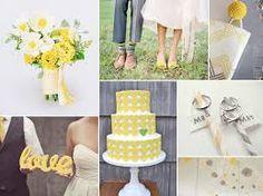 yellow green grey wedding - Google Search