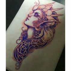 More … Mermaid tattoo – Fashion Tattoos Tattoo Femeninos, Backpiece Tattoo, Tattoo Fonts, Tattoo Flash, Mandala Tattoo, Dream Tattoos, Future Tattoos, Love Tattoos, Body Art Tattoos