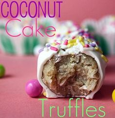 Coconut Cake Truffles -- perfect for Easter parties or teacher gifts!!