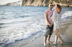 Pre wedding session of Eva and Giannis in the beautiful beach of #kefalonia island. photo by nikiforosphotography