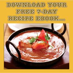 Get Free 7 Day Healthy Recipe Ebook online from Spices of India - The UK's leading Indian Grocer. Free Books Online, Ebooks Online, Spice India, Asian Cookbooks, Indian Food Recipes, Healthy Recipes, Free Baby Samples, Curry Recipes, Spicy