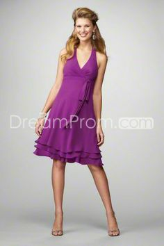 Wedding Dresses, Bridesmaid Dresses, Prom Dresses and Bridal Dresses Alfred Angelo Bridesmaid Dresses - Style 7173 - Alfred Angelo Bridesmaid Dresses, Spring V-neck halter cocktail length chiffon dress. Discontinued Shown In: Violet Maternity Bridesmaid Dresses, Bridesmaid Dress Styles, Homecoming Dresses, Bridal Dresses, Flower Girl Dresses, Bridesmaids, Dress Prom, Bridesmaid Ideas, Mom Dress