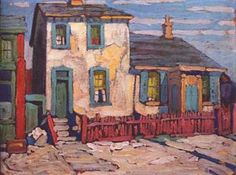 ۩۩ Painting the Town ۩۩ city, town, village & house art - House in the Ward, Lawren S. Harris, Group of Seven Tom Thomson, Emily Carr, Group Of Seven Artists, Group Of Seven Paintings, Canadian Painters, Canadian Artists, Landscape Paintings, Abstract Landscape, Art Brut