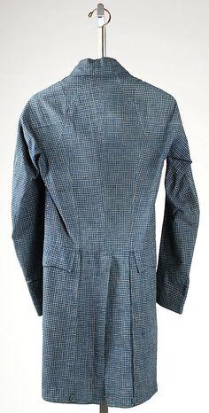 Coat--linen, unlined (American, c. 1815, Metropolitan Museum of Art)