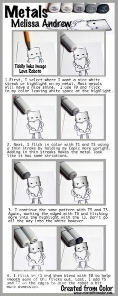 Copic - Coloring Metal - bjl