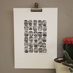 illustrated a4 sweet print by martha mitchell design | notonthehighstreet.com